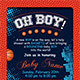 Basketball Baby Shower 4x6 Invitation - GraphicRiver Item for Sale