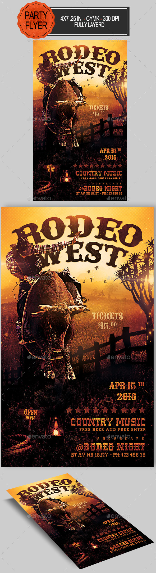 Rodeo Flyer Template Free from previews.customer.envatousercontent.com