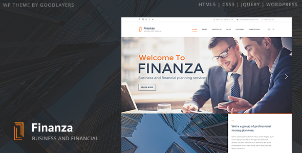 Finanza - Business & Financial WordPress