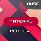 Material CV -  Material Personal CV Muse Theme - ThemeForest Item for Sale