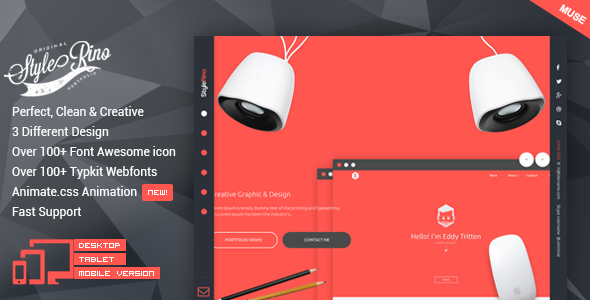 StyleRino - MultiPurpose Portfolio Muse Template