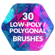 30 Low-Poly / Polygonal Photoshop / Procreate Brushes - GraphicRiver Item for Sale