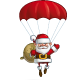 Happy Santa - Parachute Sack of Gifts - GraphicRiver Item for Sale