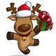 Christmas Elks - Holding a Gift  - GraphicRiver Item for Sale