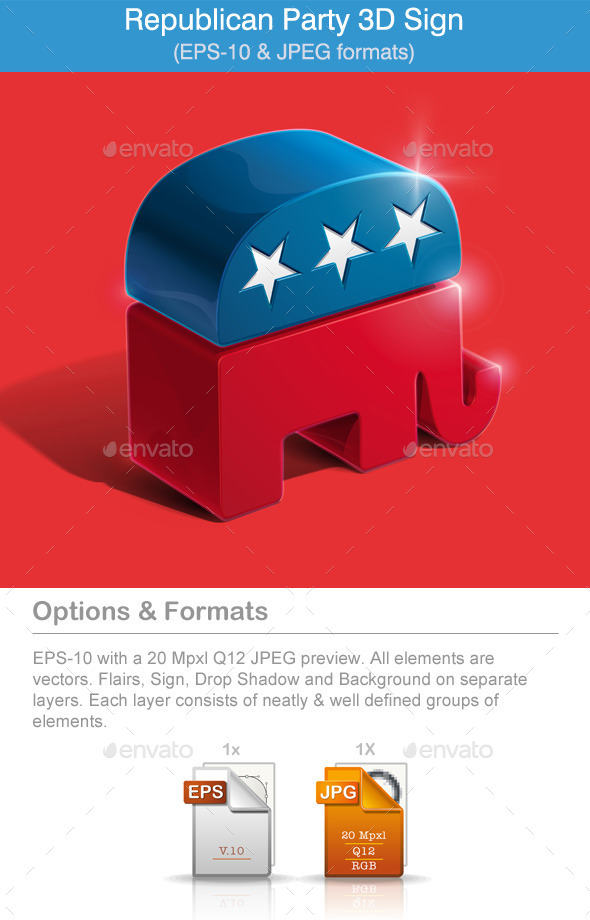 American Republican Party 3D Sign