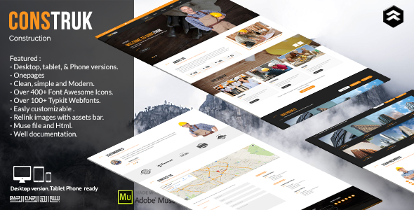 Construk - Construction Business Muse Template