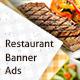 Restaurant Web Banner Ads - GraphicRiver Item for Sale