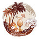 Tropical Background with Palms and Cocktail - GraphicRiver Item for Sale