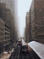 Chicago EL Train in Snow Storm - PhotoDune Item for Sale