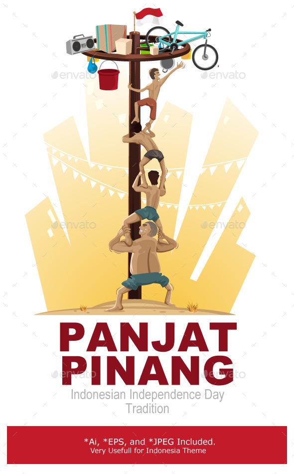 Panjat Pinang Pole Climbing