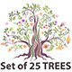 Set of Colorful Trees. - GraphicRiver Item for Sale