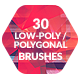 30 Low-Poly / Polygonal Photoshop / Procreate Brushes #2 - GraphicRiver Item for Sale