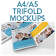Vertical A4 or A5 Trifold Mockups - GraphicRiver Item for Sale