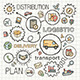 Logistic Sketch Concept with Hand Draw Doodle Icon - GraphicRiver Item for Sale