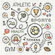 Sport Sketch Concept with Hand Draw Doodle Icons - GraphicRiver Item for Sale