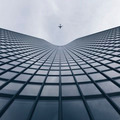 Looking up Modern Buildings with an Airplane - PhotoDune Item for Sale
