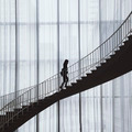 A Walking Person on a Curved Staircase  - PhotoDune Item for Sale