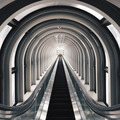 Interior of Escalator in Osaka - PhotoDune Item for Sale