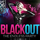 Blackout Flyer with FB and Instagram Template  - GraphicRiver Item for Sale