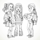 Company Schoolgirl with Textbooks and Backpacks - GraphicRiver Item for Sale