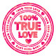100% True Love stamps  - GraphicRiver Item for Sale