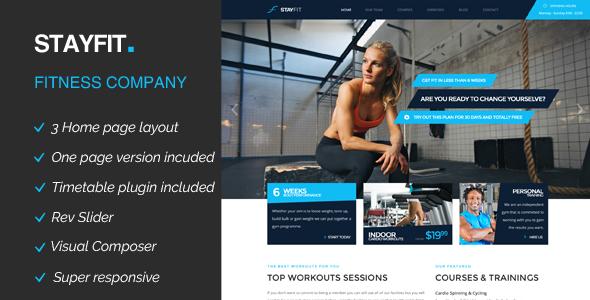 Stayfit | Gym & Fitness WP Theme