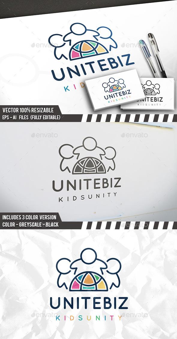 United Kids Logo Template