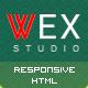 WEX - Minimalistic HTML Portfolio Template - ThemeForest Item for Sale