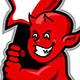 Red Devil Boy Swinging Guitar - GraphicRiver Item for Sale