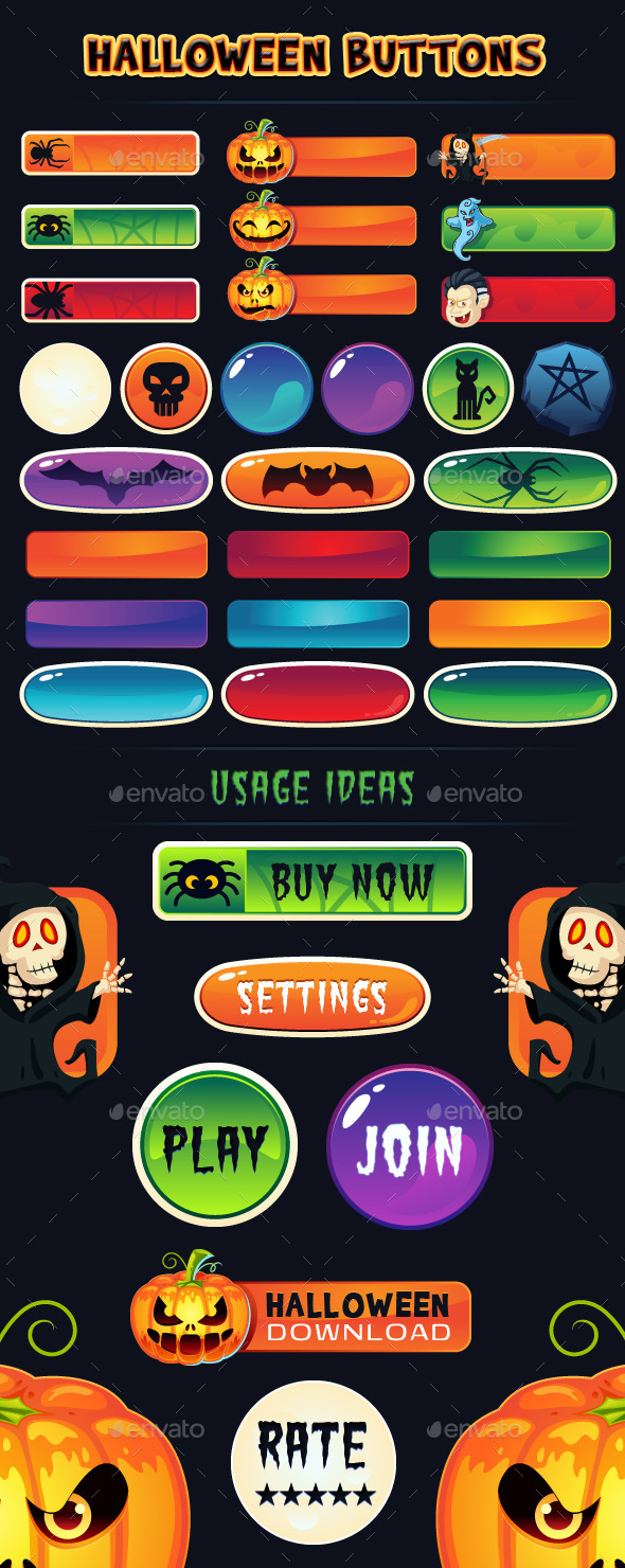 Scary Web Elements from GraphicRiver