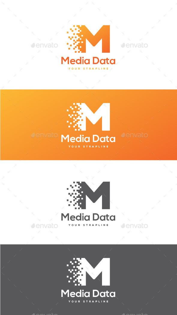 Media Data Letter M Logo