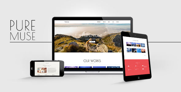 Puremuse - Clean Muse Template for Portfolios & Creatives