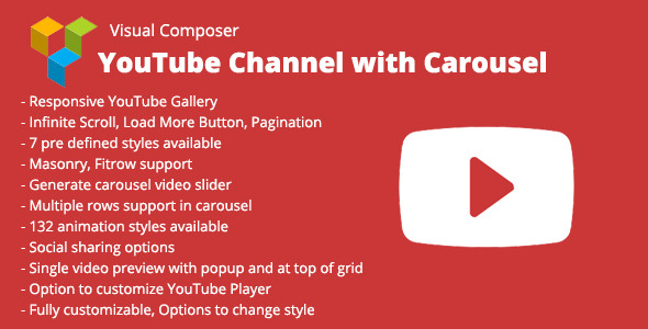 WPBakery Page Builder (Visual Composer) YouTube Channel with Carousel Download