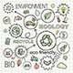 Ecology Sketch Concept with Hand Draw Doodle Icons - GraphicRiver Item for Sale