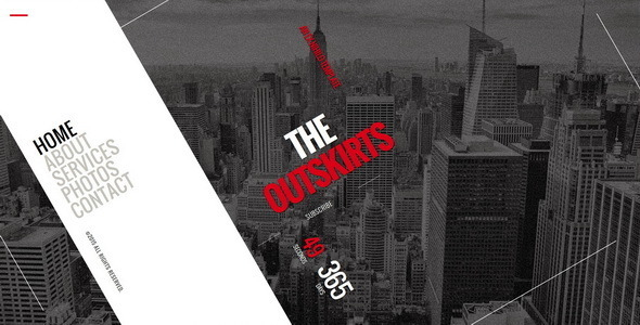 The Outskirts || Responsive Coming Soon Page