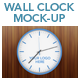 Wall Clock Mock-up - GraphicRiver Item for Sale
