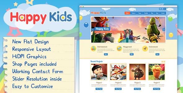 Happy Kids - Multipurpose HTML Template