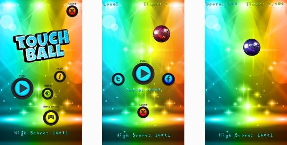 Touch Ball - HTML5 Mobile Game (Construct 3 | Construct 2 | Capx) Download