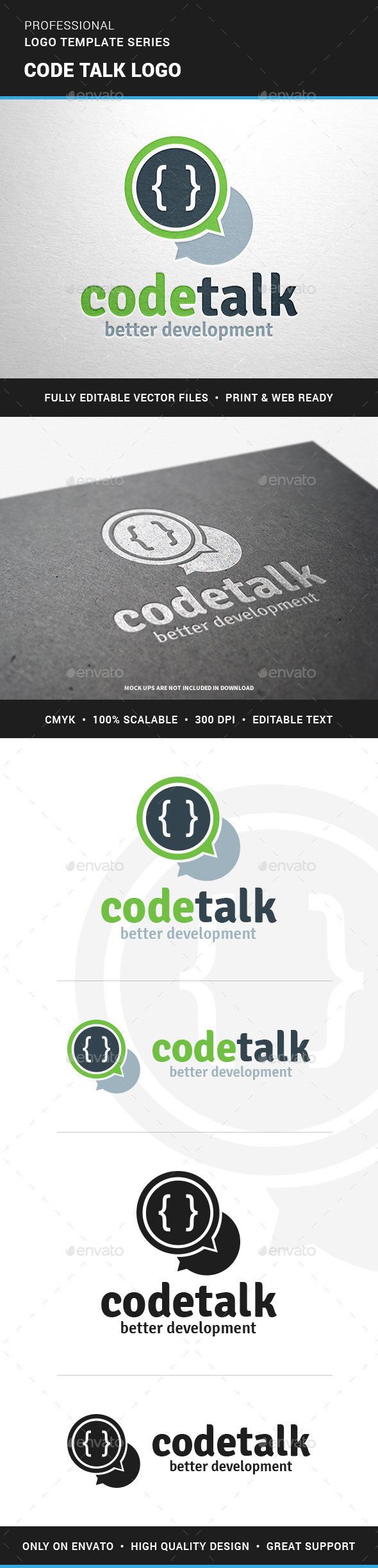 Code Talk Logo Template