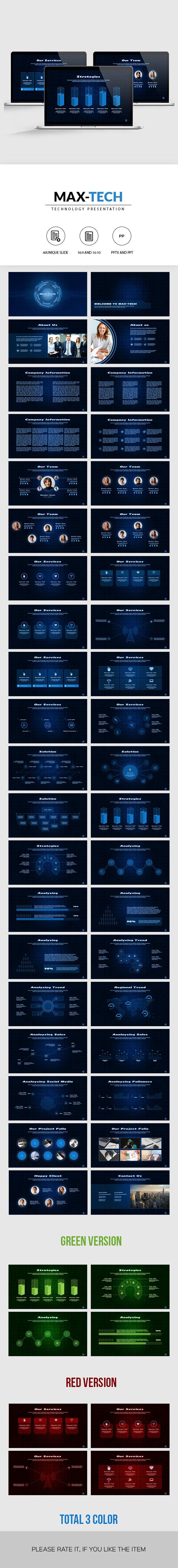 Max-Tech   Technology PowerPoint Presentation
