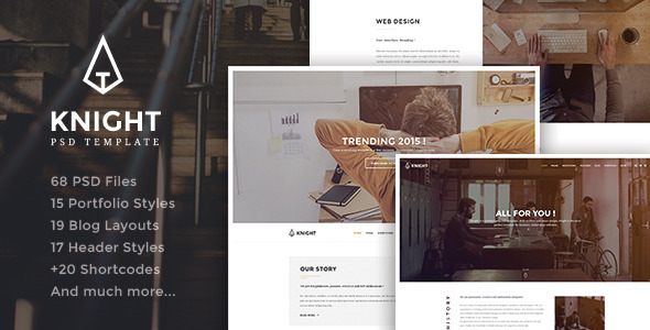Knight – Corporate and Shop PSD Template