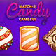 Match-3 Candy Game GUI - GraphicRiver Item for Sale