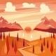 Vector Illustration Of Summer Sunset - GraphicRiver Item for Sale