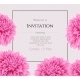 Wedding Invitation With Beautiful Aster Flower - GraphicRiver Item for Sale
