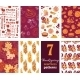 Vector Thanksgiving Turkey Pumpkins Seven Set - GraphicRiver Item for Sale