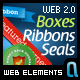 Web Boxes   Banners   Seals   Web 2.0 Ribbons - GraphicRiver Item for Sale
