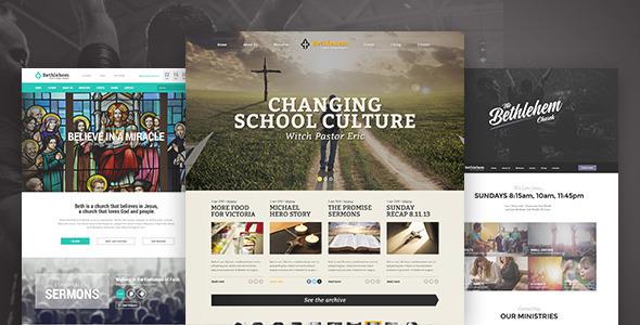 Church WordPress Themes from ThemeForest
