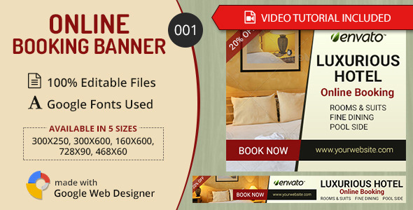 Multipurpose Online Booking Banner 001 Download