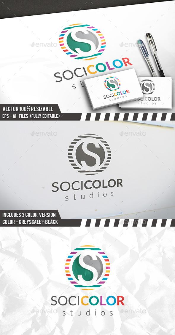 Colorful S Letter Logo