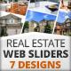 Real Estate Web Sliders 7 designs - GraphicRiver Item for Sale